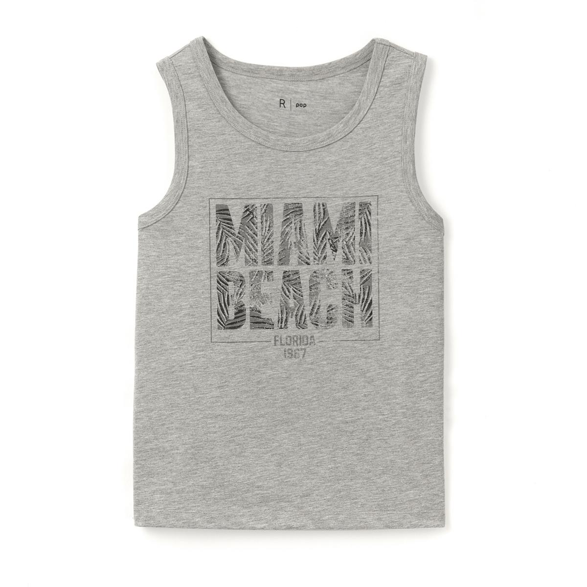 Топ с рисунком Miami Beach, 10-16 летСостав и описание : Материал       50% хлопка, 50% полиэстераМарка       R popУход :Машинная стирка при 30 °C с вещами схожих цветов.Стирать и гладить с изнаночной стороны.Машинная сушка в умеренном режиме.Гладить при низкой температуре.<br><br>Цвет: серый меланж<br>Размер: 10 лет - 138 см