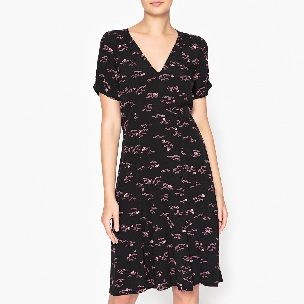 Платье с рисунком MISS FLOWERS платье miss selfridge miss selfridge mi035ewxyg42