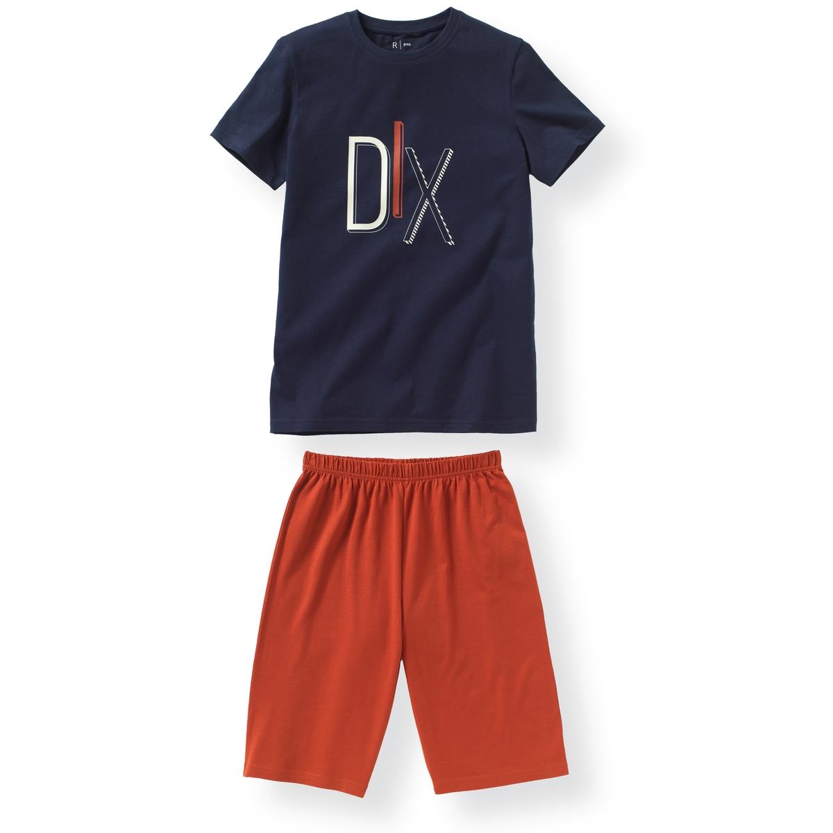 Пижама из хлопка с принтом DIX 10-16 лет