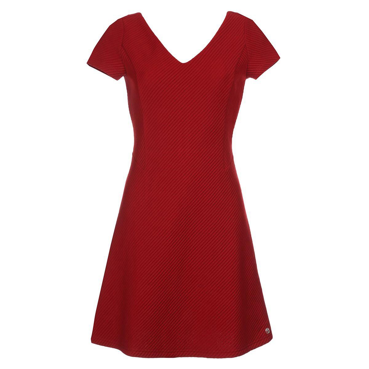 Платье короткоеСостав и описание     Материал         100% полиэстера     Марка         LES PTITES BOMBES          Уход     Соблюдайте рекомендации по уходу, указанные на этикетке<br><br>Цвет: красный