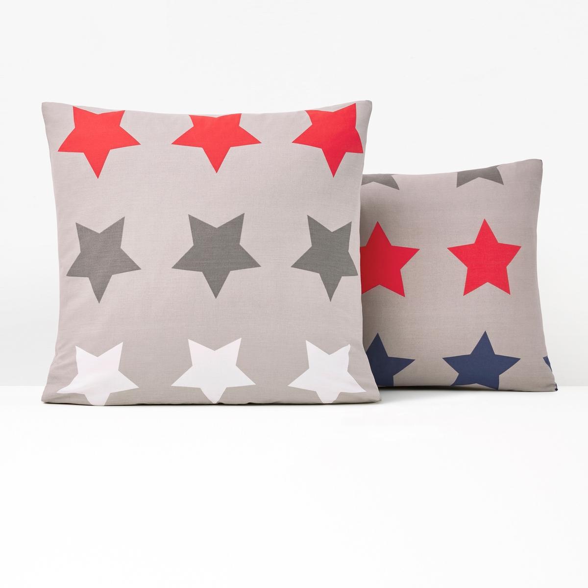 Наволочка La Redoute STARS 63 x 63 см серый наволочка la redoute из хлопка kalinda 50 x 70 см другие