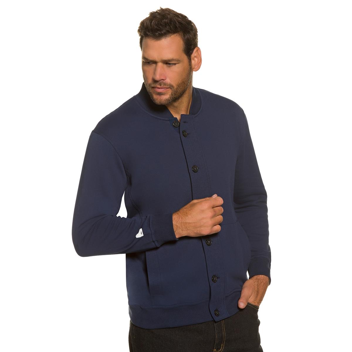 Куртка-свитшотКуртка свитшот JP1880. Видимая прострочка на воротнике. 2 кармана, рисунок ICEHOCKEY на правом рукаве. Отделка вязкой в рубчик. 100% хлопок. Длина в зависимости от размера 74-88 см.<br><br>Цвет: синий морской<br>Размер: XXL