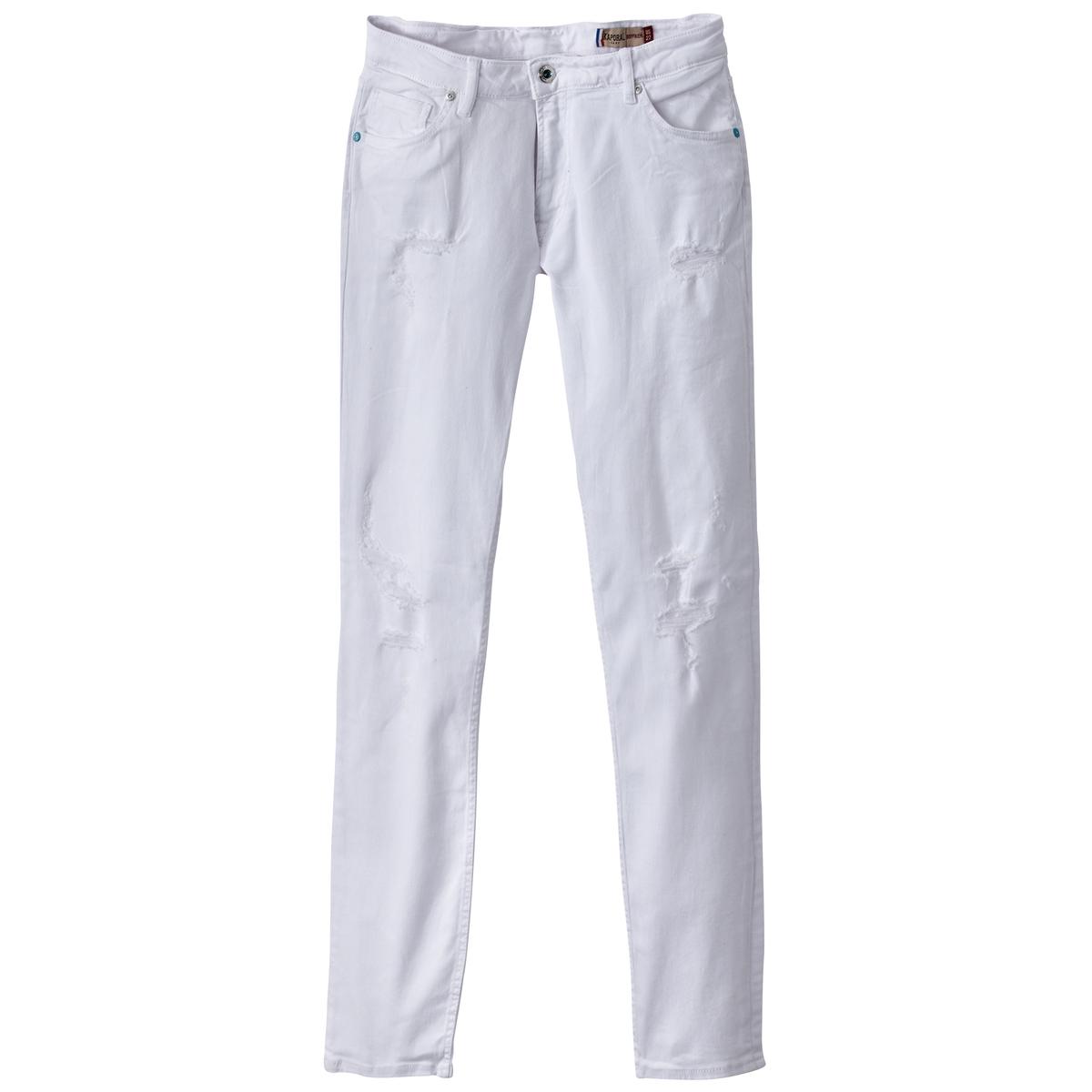 Джинсы базового гардеробаМатериал : 91% хлопка, 2% эластана, 7% эластомультиэстера  Высота пояса : стандартная Покрой джинсов : бойфренд Длина джинсов : длина 32<br><br>Цвет: белый,синий<br>Размер: 30 (US) длина 32.28 (US) длина 32.27 длина 32