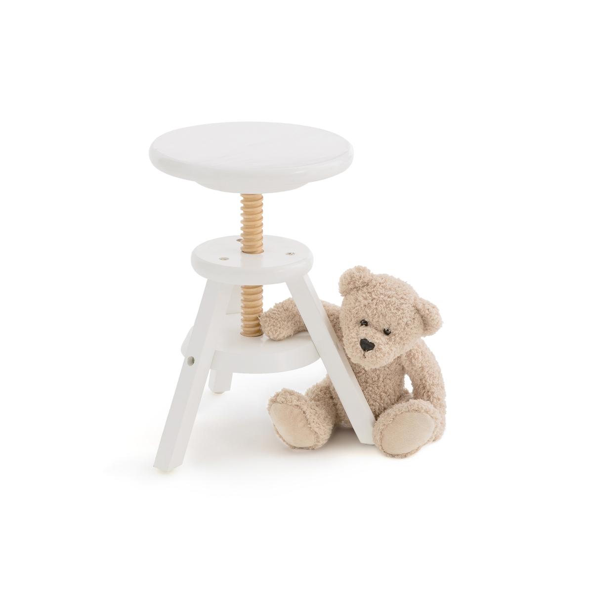 Табурет LaRedoute Детский регулируемый по высоте Gaby единый размер белый