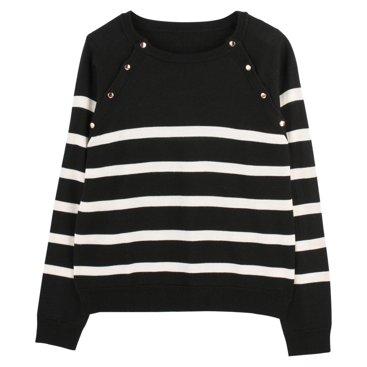 Jersey de estilo marinero abotonado, corte amplio