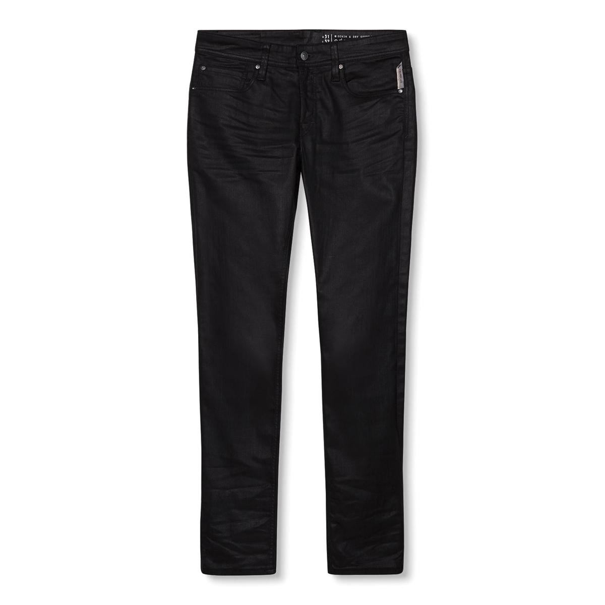 Джинсы узкие с эффектом пропиткиПятикарманные узкие джинсы ESPRIT. Эффект пропитки. Застежка на молнию и пуговицу. Пояс со шлевками.  Состав и описание:Материал: 99% хлопка, 1% эластана.Марка: ESPRIT.<br><br>Цвет: черный с пропиткой<br>Размер: 33 (US) длина 32.31 длина 32 (US)