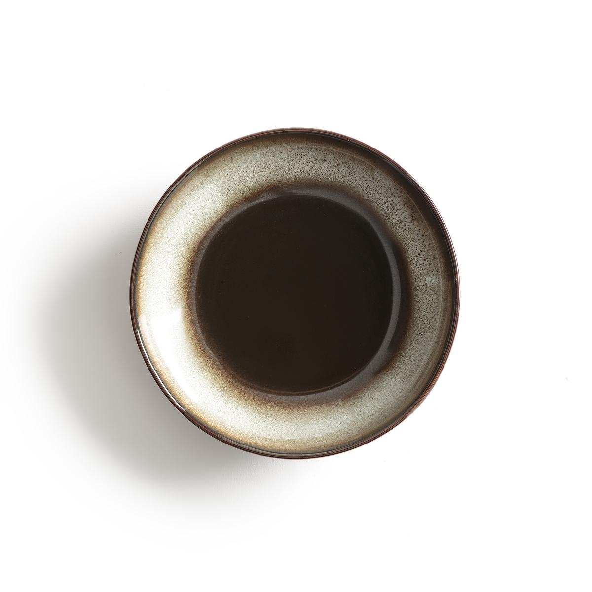 Комплект из 4 глубоких тарелок из керамики TadefiОписание:4 глубокие тарелки из глазурованной керамики с отражающим эффектом Tadefi. Органическая форма, вдохновленная природой, и красивое покрытие глазурью.            Можно использовать в посудомоечных машинах и микроволновых печах. Размеры: ?20,5 см. Мелкие и десертные тарелки вы можете найти на нашем сайте.<br><br>Цвет: каштановый