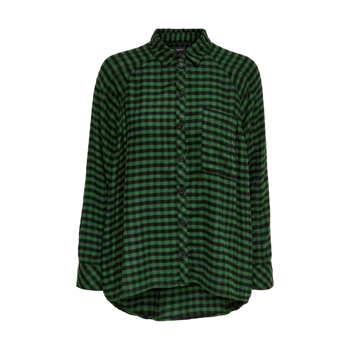 Camisa de mangas compridas, bolso no peito