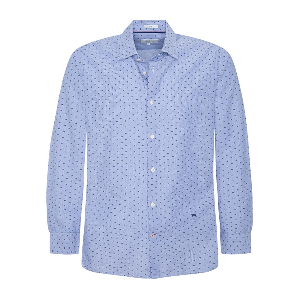 Camisa slim a rayas con microestampado Pierre