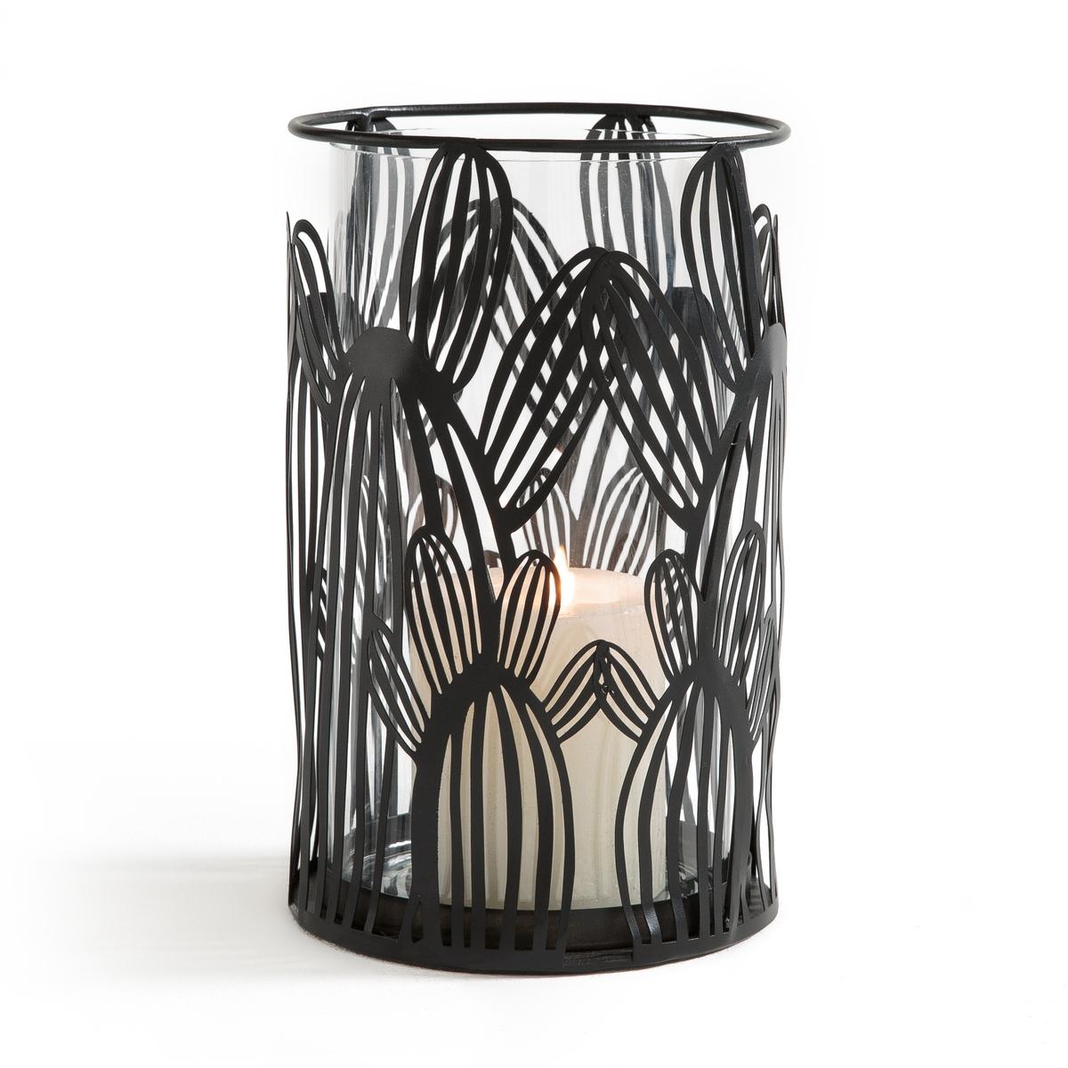 Lanterna cactus in vetro e metallo, DORIO