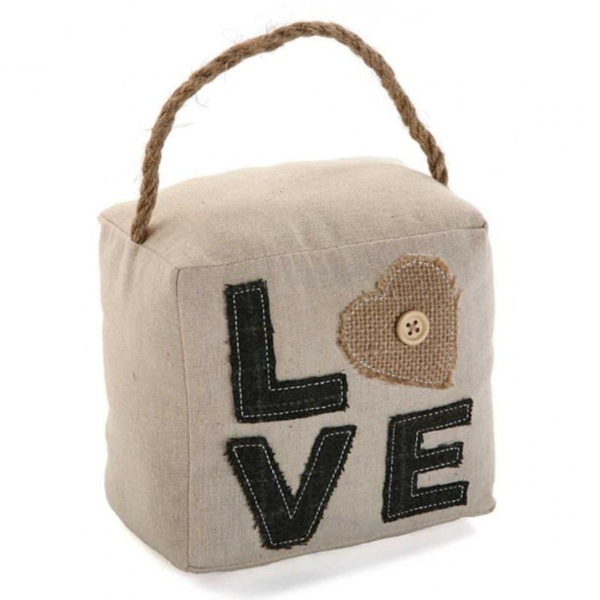 Bloc porte en cube love beige