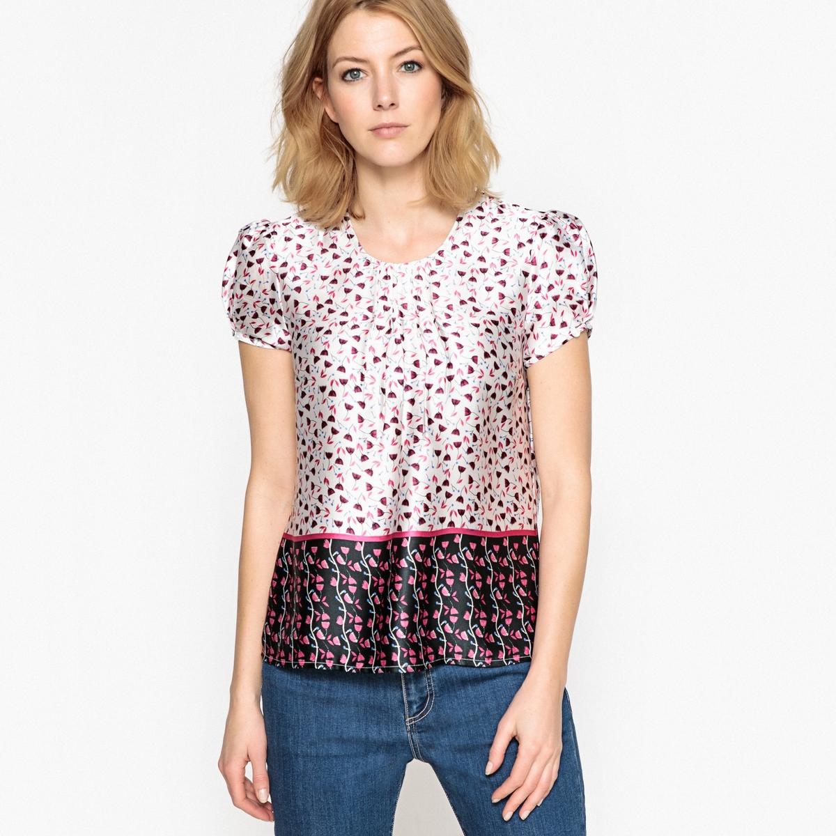 Блузка с рисунком из сатина цена