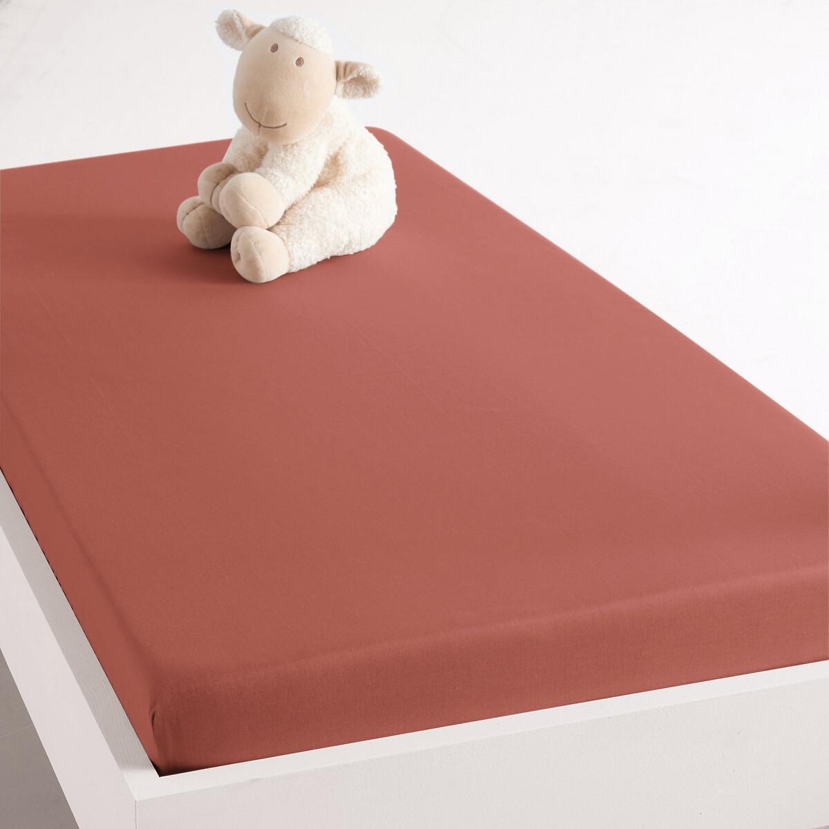 Натяжная простыня LaRedoute Из биохлопка для кровати грудного ребенка Scenario 40 x 80 см каштановый