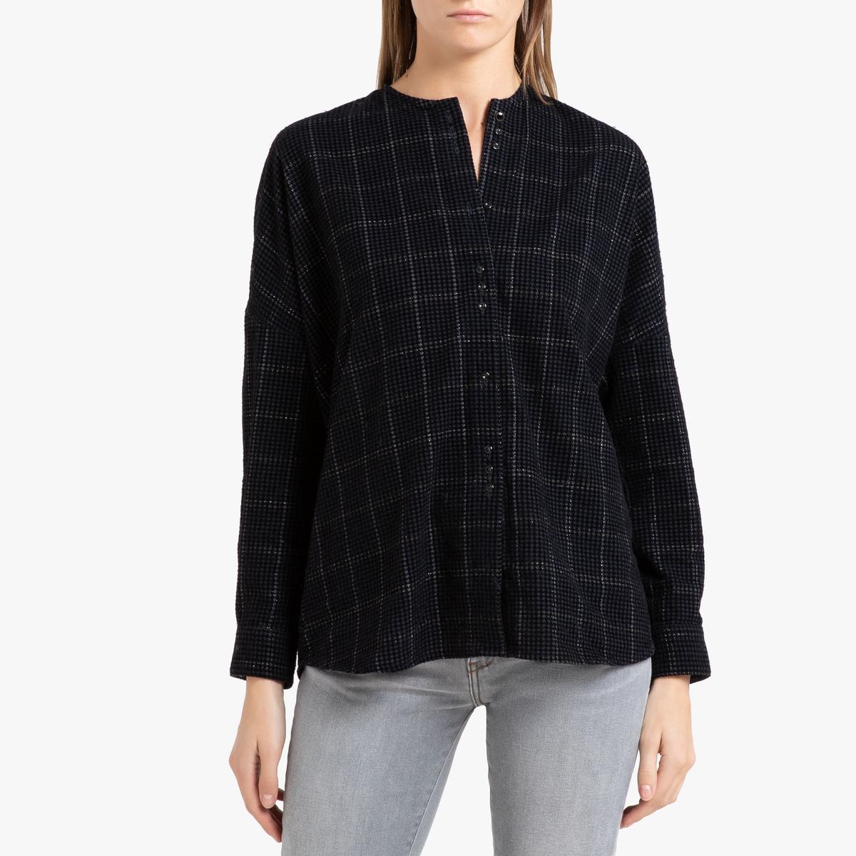 Рубашка La Redoute С длинными рукавами CATALINA M синий цены онлайн