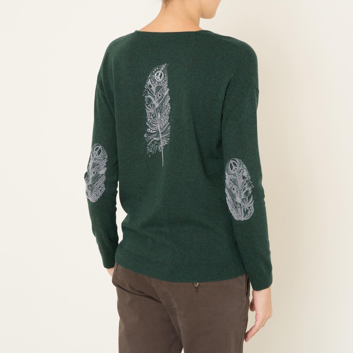 Пуловер AGATHEСостав и описание    Материал : 33% вискозы, 23% полиамида, 20% шерсти, 20% хлопка, 4% кашемира   Марка : BERENICE<br><br>Цвет: зеленый