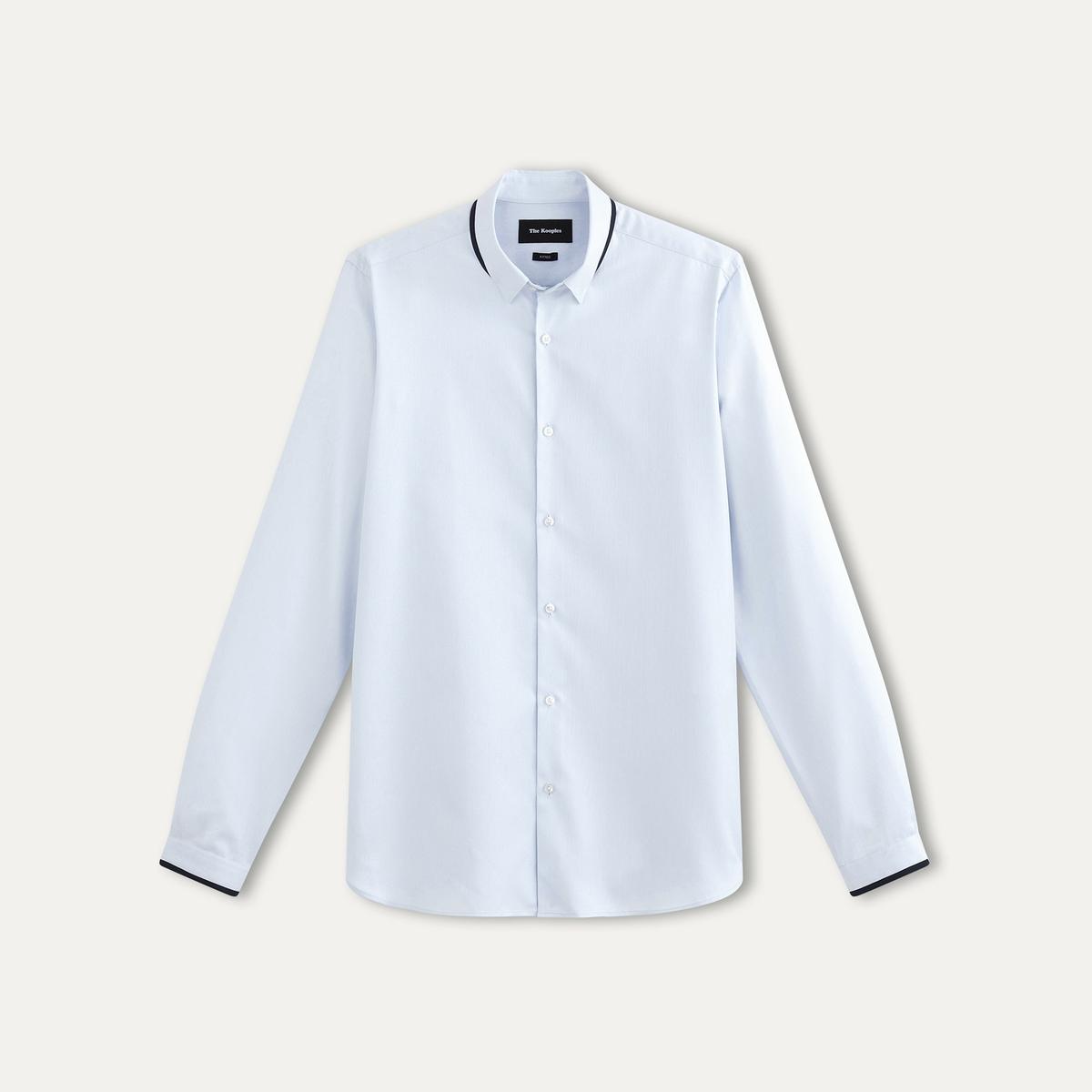 Рубашка из хлопковой ткани пикеСостав и описание    Материал : 100% хлопка.    Вставки : 100% полиэстера    Марка : THE KOOPLES<br><br>Цвет: синий