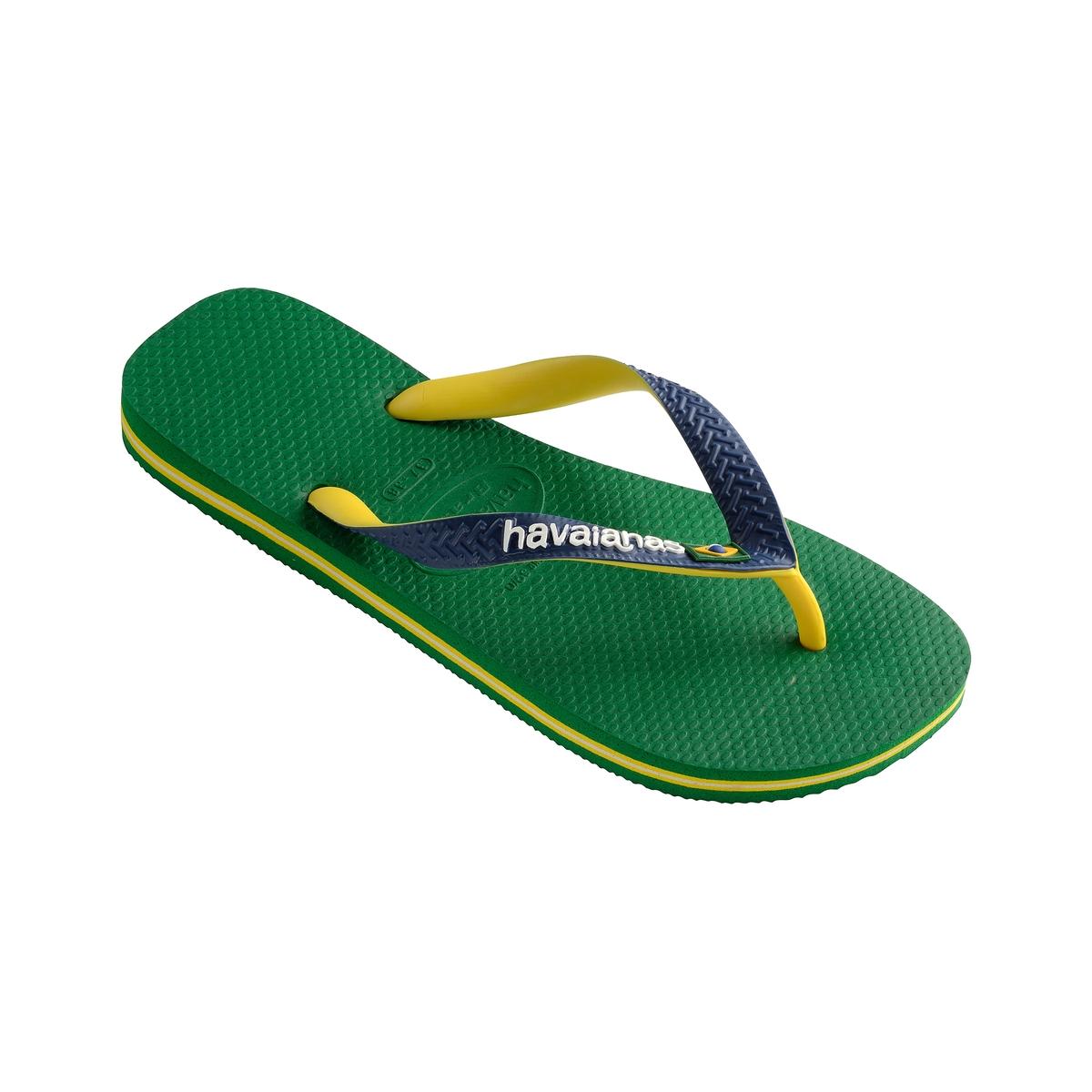Вьетнамки Brasil MixВерх/Голенище : каучук   Стелька : каучук   Подошва : каучук   Форма каблука : плоский каблук   Мысок : открытый мысок   Застежка : без застежки<br><br>Цвет: зеленый<br>Размер: 39/40.45/46