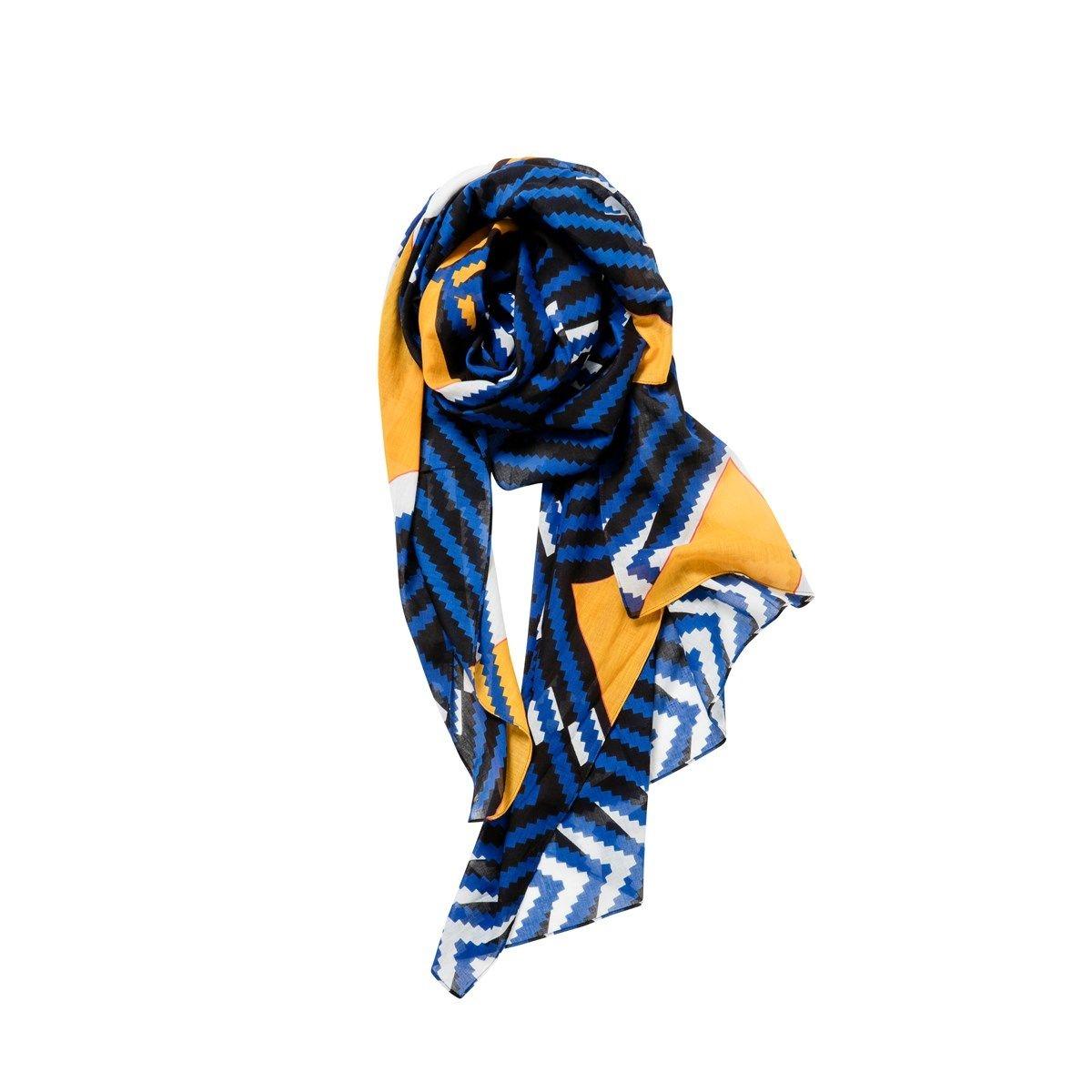 Foulard mixte en voile de coton - KENYA CHEVRON