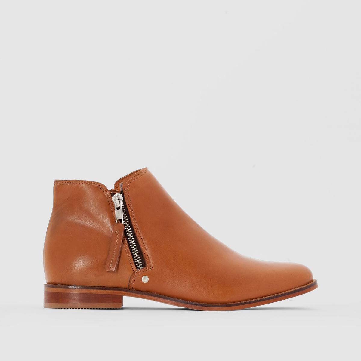 Ботильоны кожаные на широкую ногу, размеры 38-45Описание:Детали •  Высота каблука : 2 см. •  Застежка : на молнию •  Круглый мысокСостав и уход •  Верх 100% яловичная кожа •  Подкладка 100% синтетический материал •  Стелька 100% кожа •  Подошва 100% эластомер •  Произведено в Португалии<br><br>Цвет: темно-бежевый,черный<br>Размер: 43.39.45.44.39.41