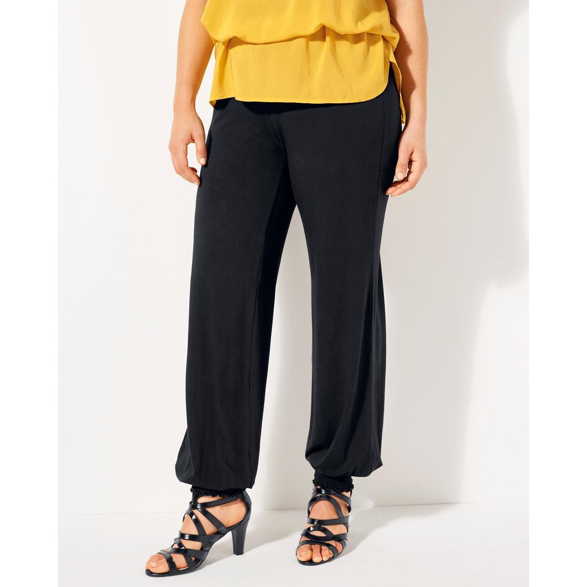 Брюки свободные, широкие брюки из саржи би стрейч длина по внутр шву 78 см