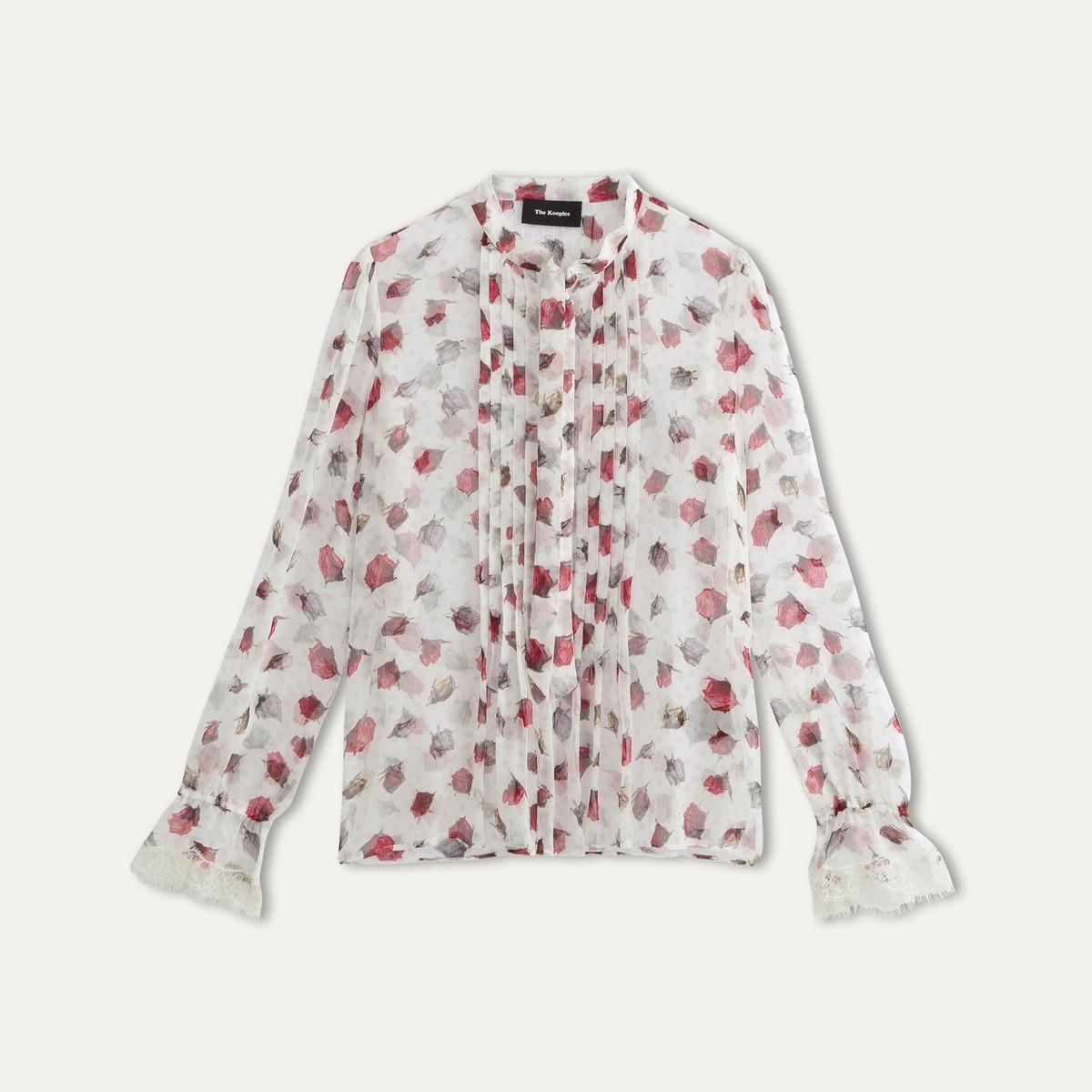 Блузка из шелка с принтом