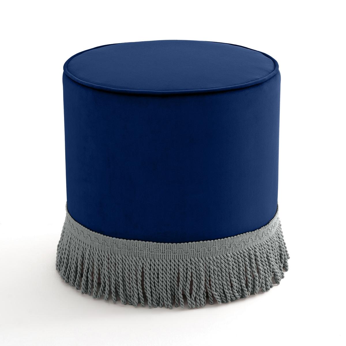 Пуф La Redoute Из велюра с бахромой Ramona единый размер синий люстра julietta ramona n2750 5
