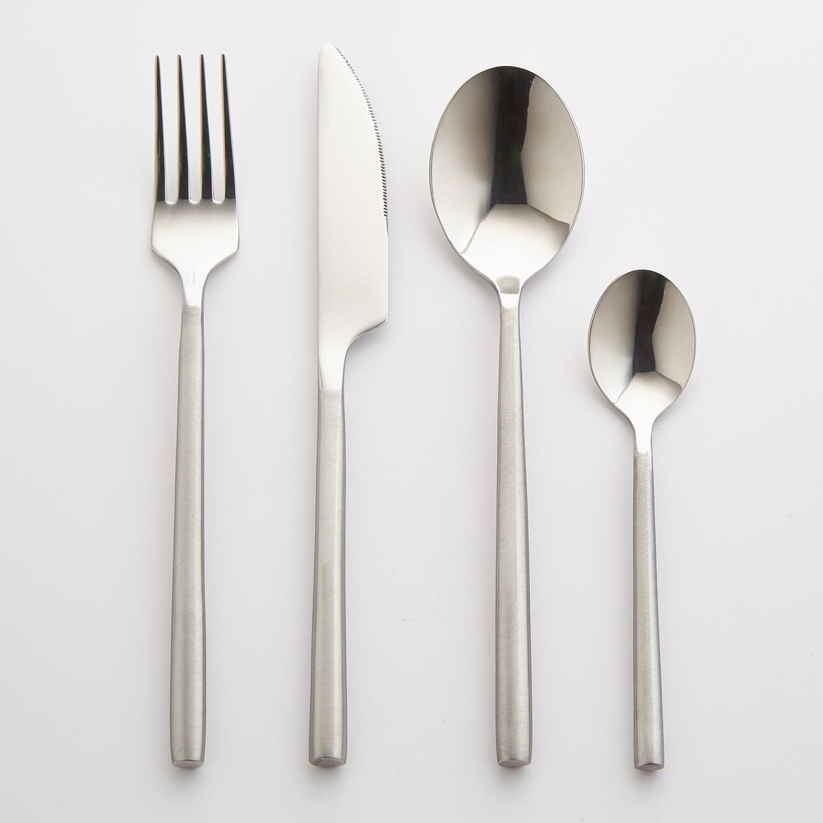 Комплект из 4 столовых ложек из нержавеющей стали Concetti4 столовые ложки Concetti. Из нержавеющей стали, ручка с матовой отделкой. Толщина 3,5 мм. Можно мыть в посудомоечной машине.<br><br>Цвет: стальной<br>Размер: единый размер