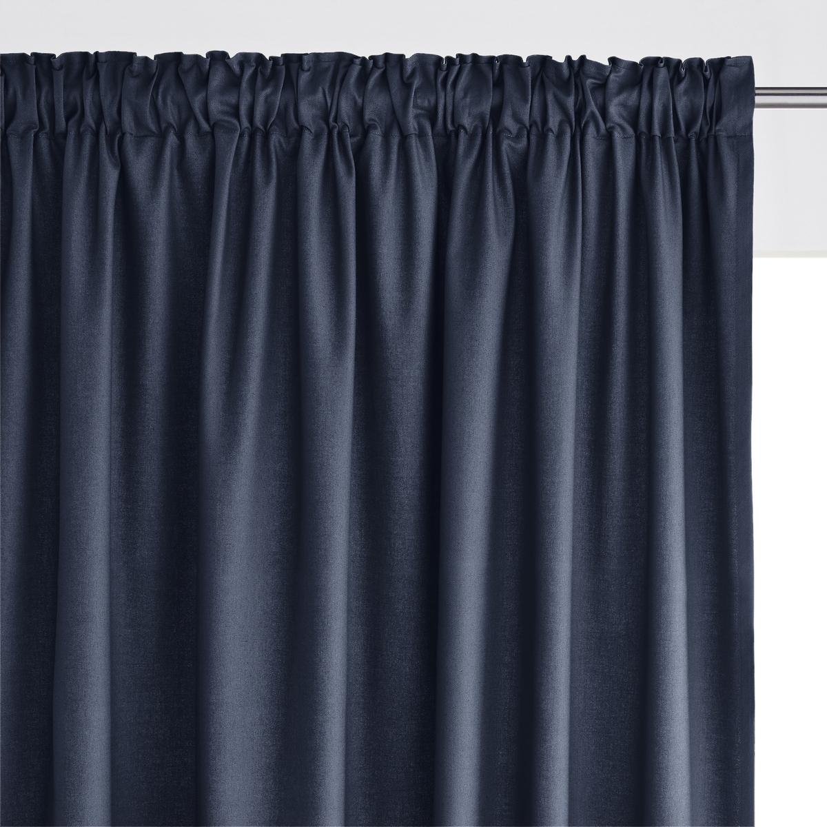 Штора La Redoute Из хлопка с тесьмой SCENARIO 180 x 135 см синий комплект из полотенце для la redoute рук из хлопка и льна nipaly 50 x 100 см белый