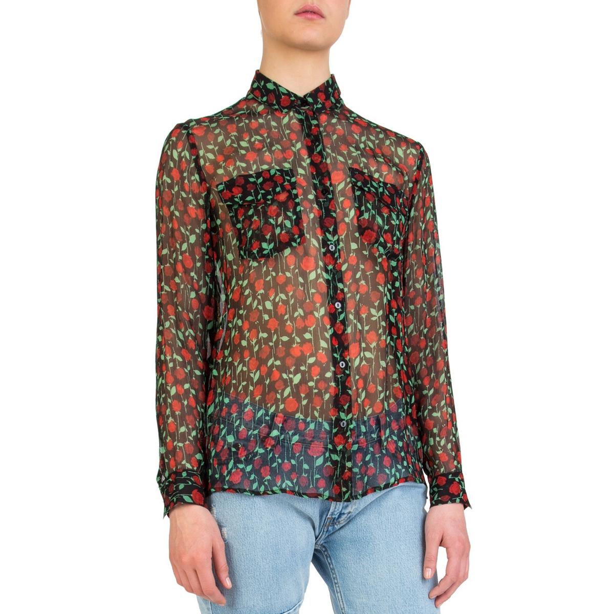 Рубашка с рисунком с длинными рукавами цена 2017