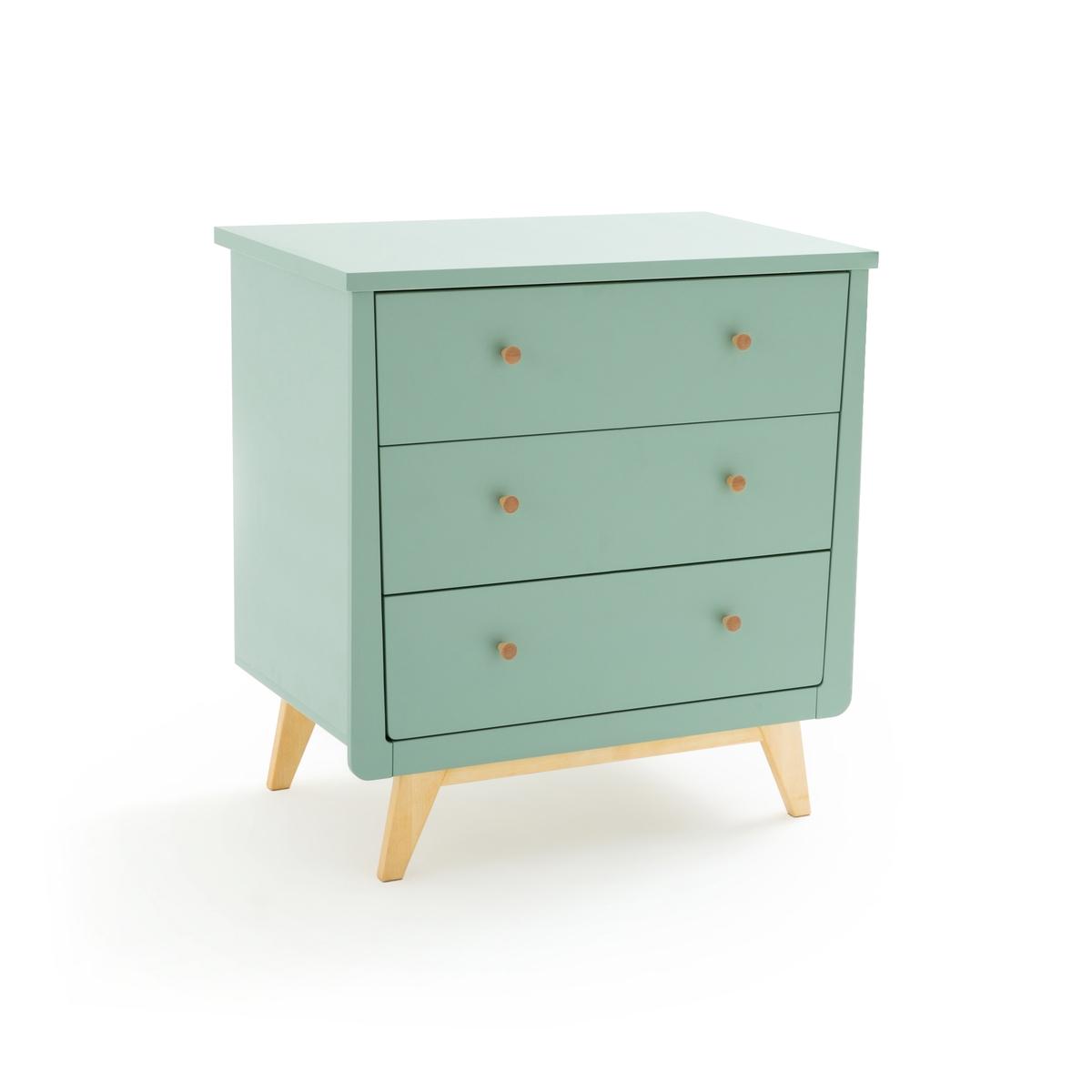Комод LaRedoute С пеленальным столиком и 3 ящиками Willox единый размер зеленый