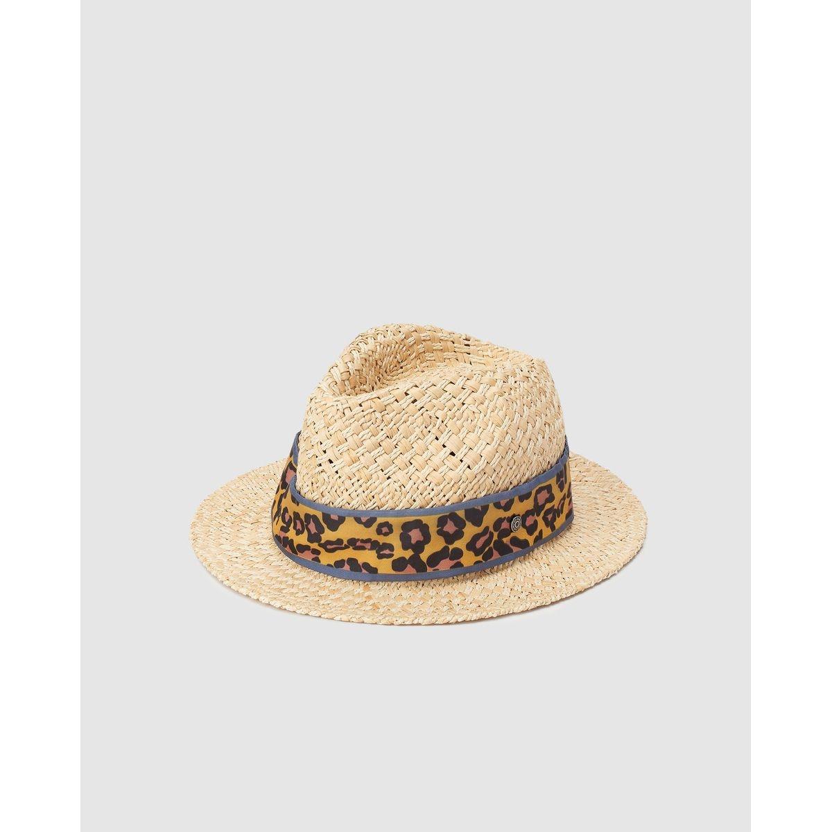 Chapeau trilby en papier  avec ruban