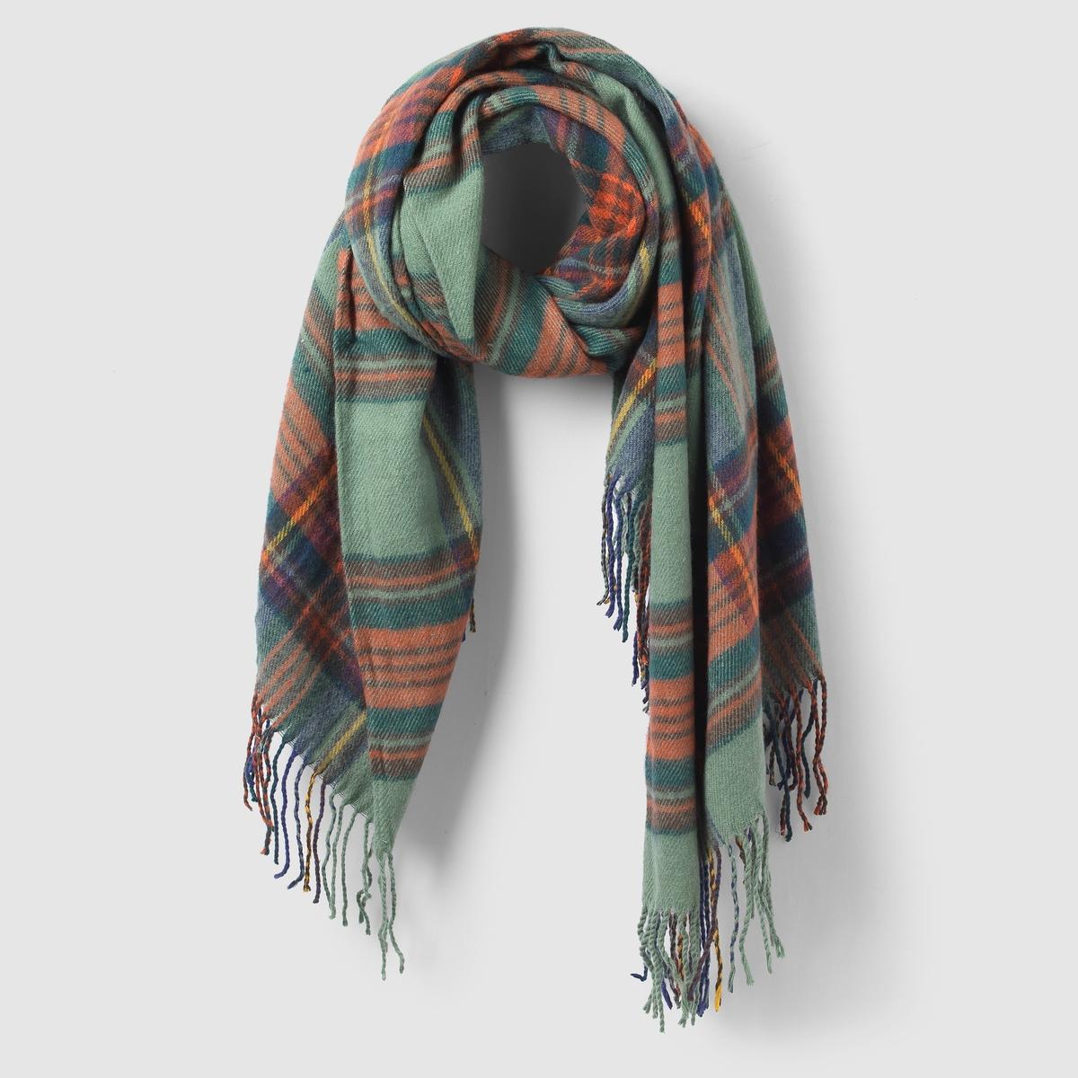 Шарф в клеткуШарф  R ATELIER. Необыкновенно красивый шарф в клетку, его можно сочетать с любыми нарядами, без сомнений.Состав и описание:Материал: 100% акрила.Размеры: ширина: 100 см, длина: 180 смМарка: R ATELIER.<br><br>Цвет: зеленый<br>Размер: единый размер