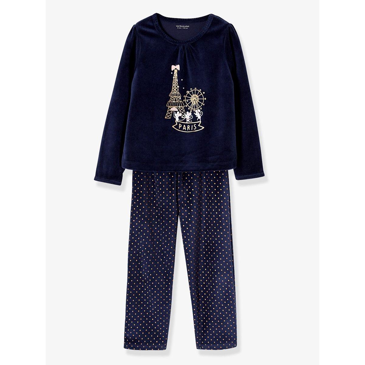 Pyjama velours fille