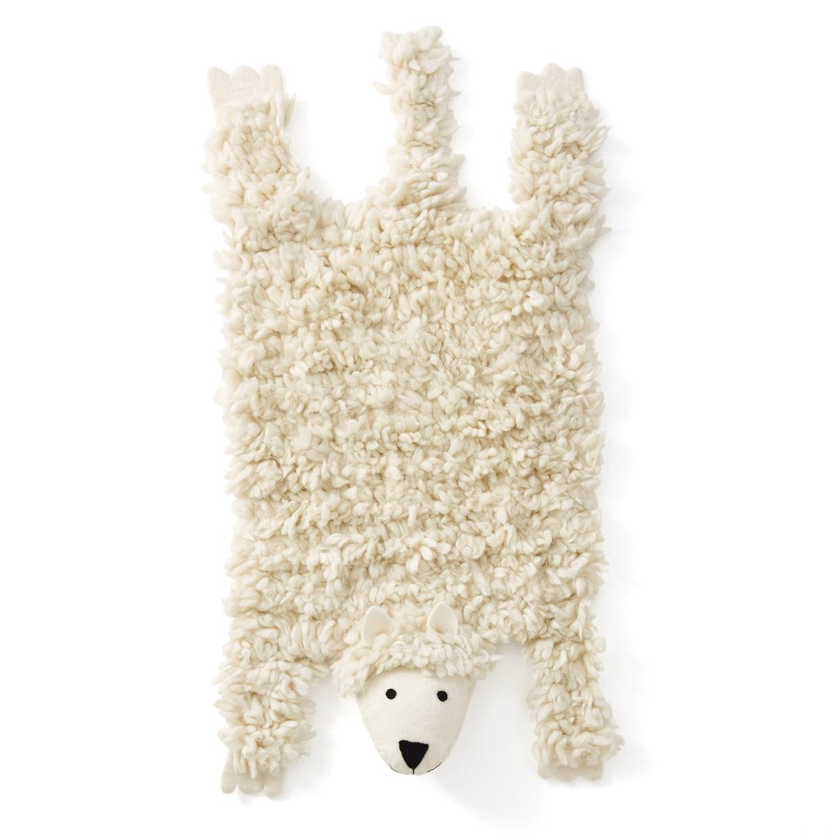Ковер из овечьей шерсти AgapeКовер Agape. Отличный ковер для детской комнаты для придания оригинальной и веселой нотки ! Из 100% шерсти. Вес : 1000 г/м?. Толщина ворса : 30-35 мм. Размер : ширина 45 x длина 100 см.<br><br>Цвет: белый