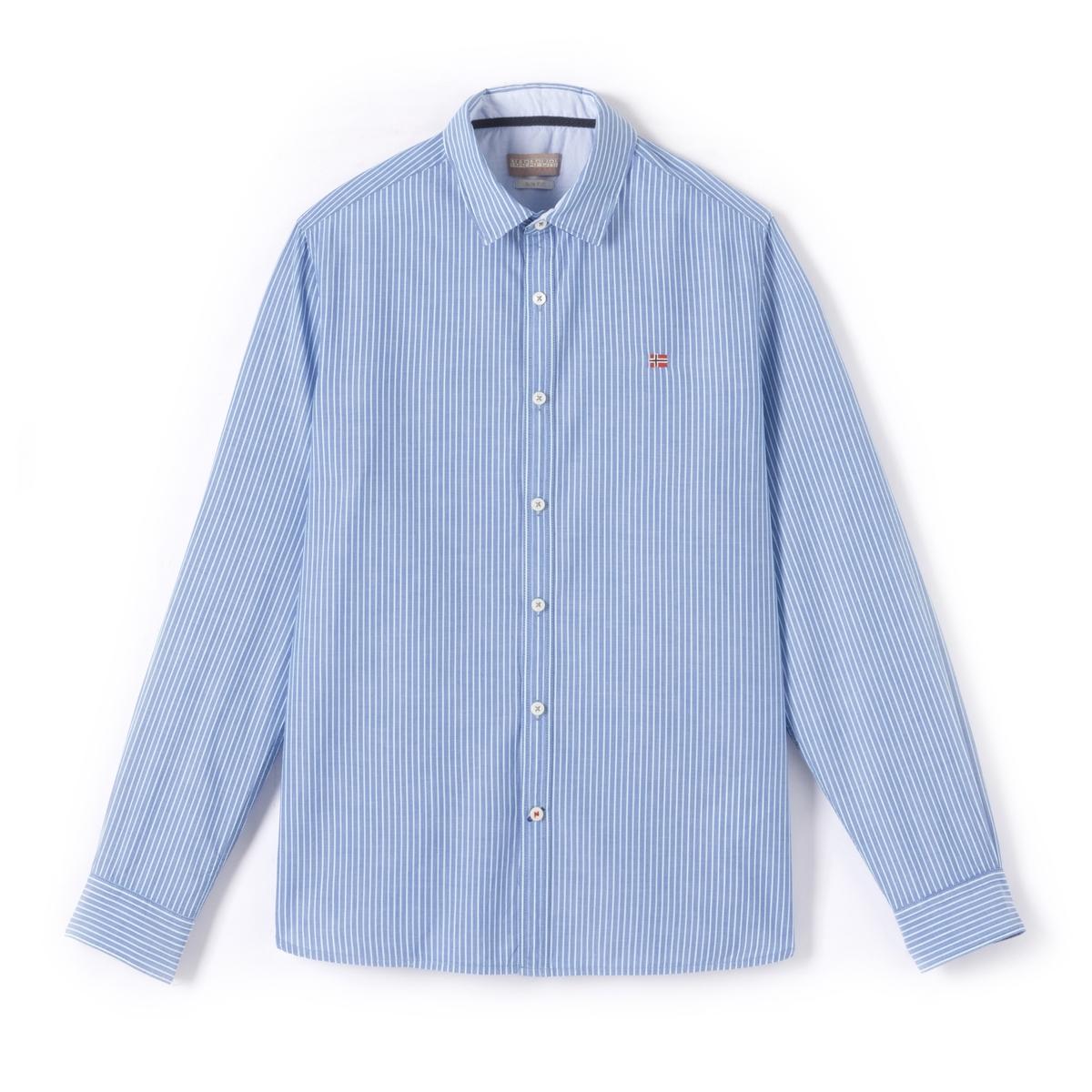 Рубашка Gulfport облегающая из поплина в полоску рубашка в полоску из поплина стретч длинные рукава