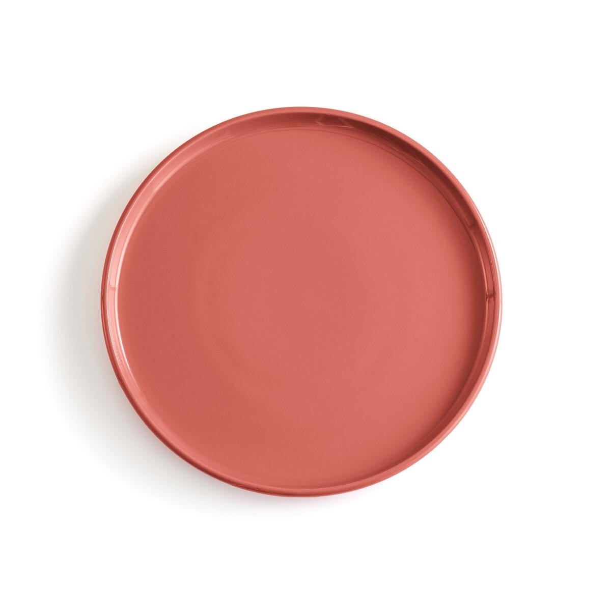 4 тарелки LaRedoute Мелкие керамические ELINOR единый размер каштановый