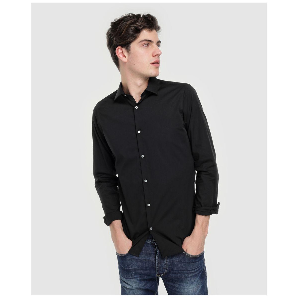 Chemise habillée skinny unie