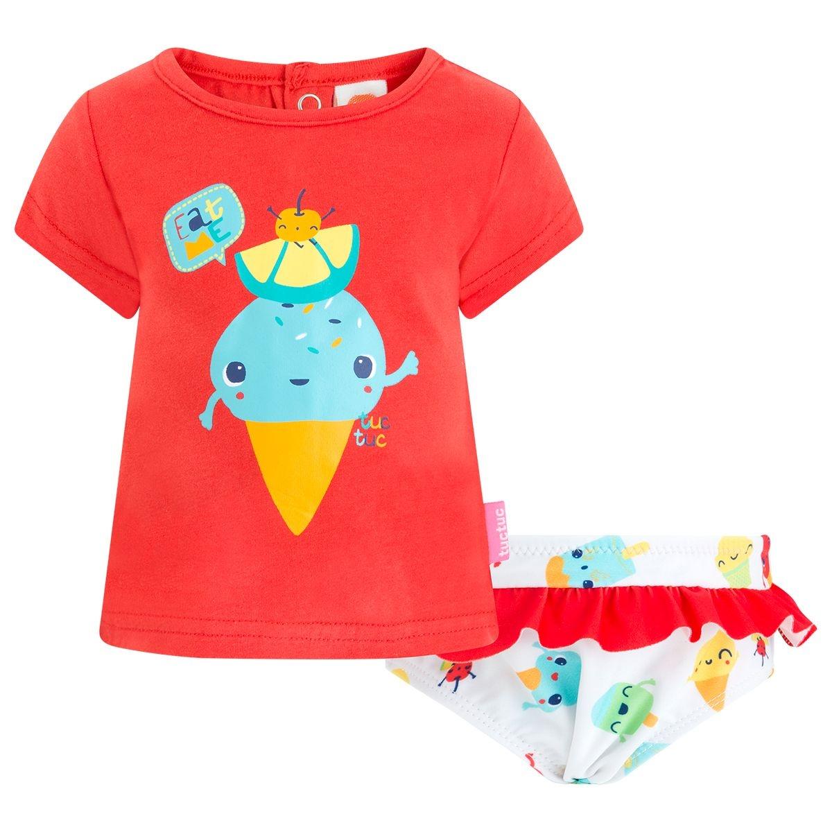 Culotte de bain lycra+tee-shirt jersey