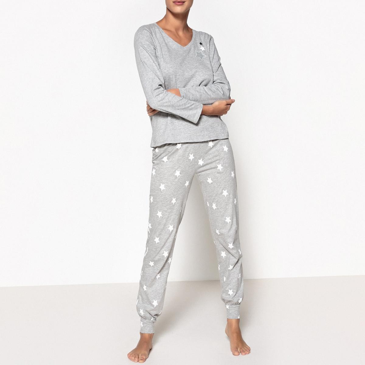 Пижама с принтом звезды La Redoute Collections