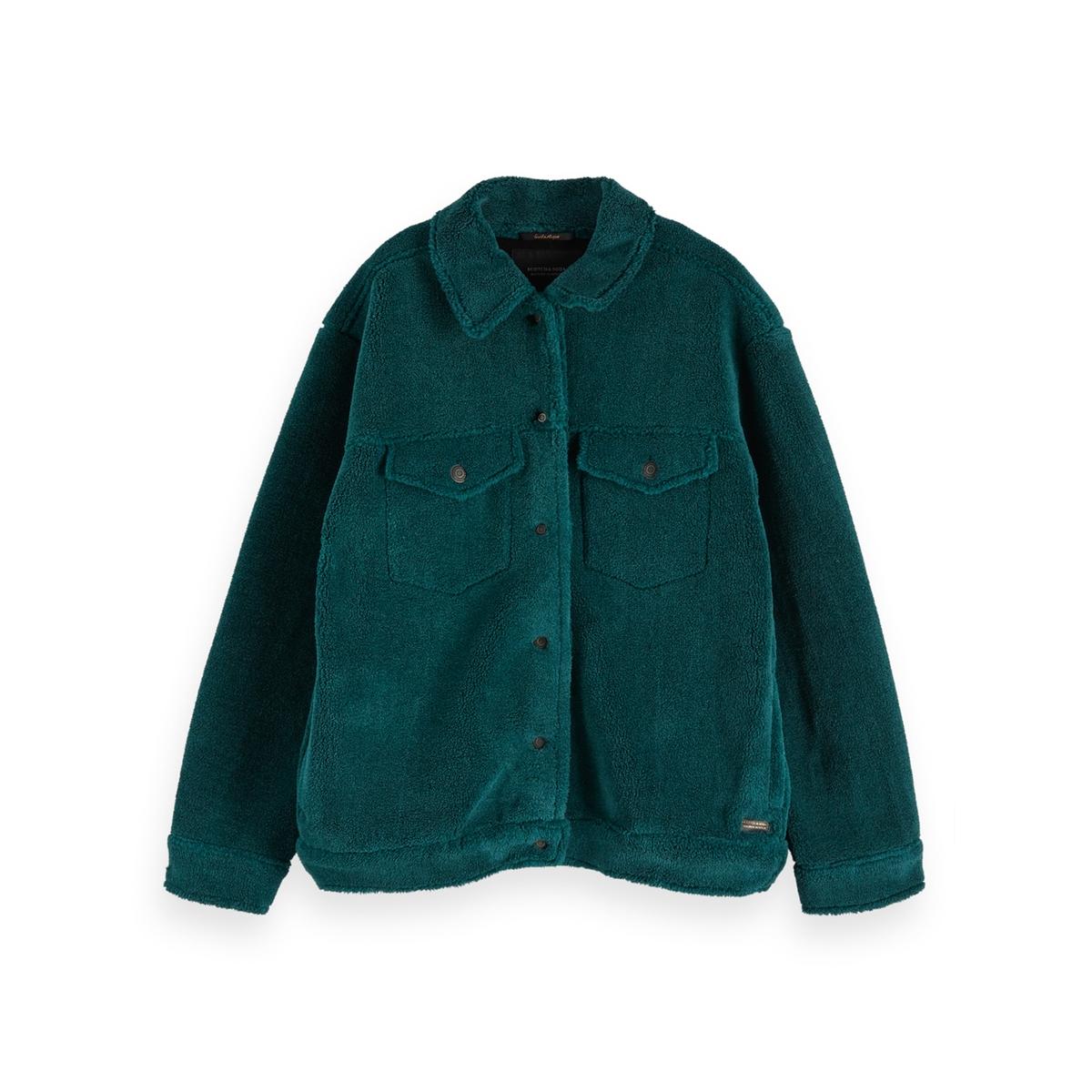 Пальто La Redoute Средней длины с застежкой на пуговицы S зеленый