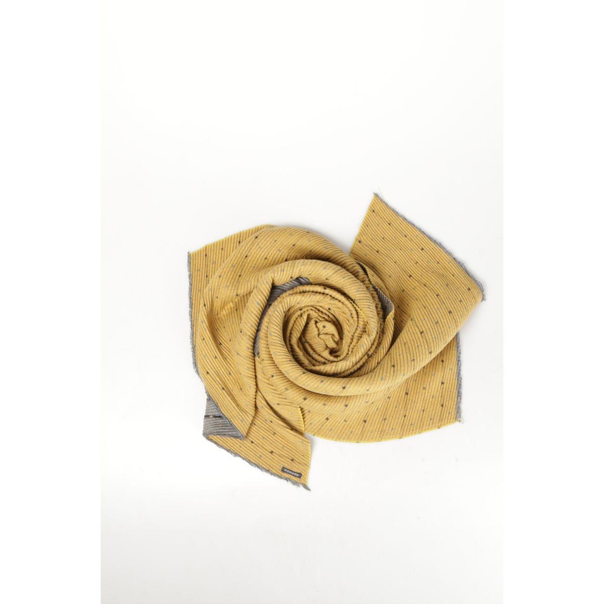 Foulard en maille gaufrée imprimée