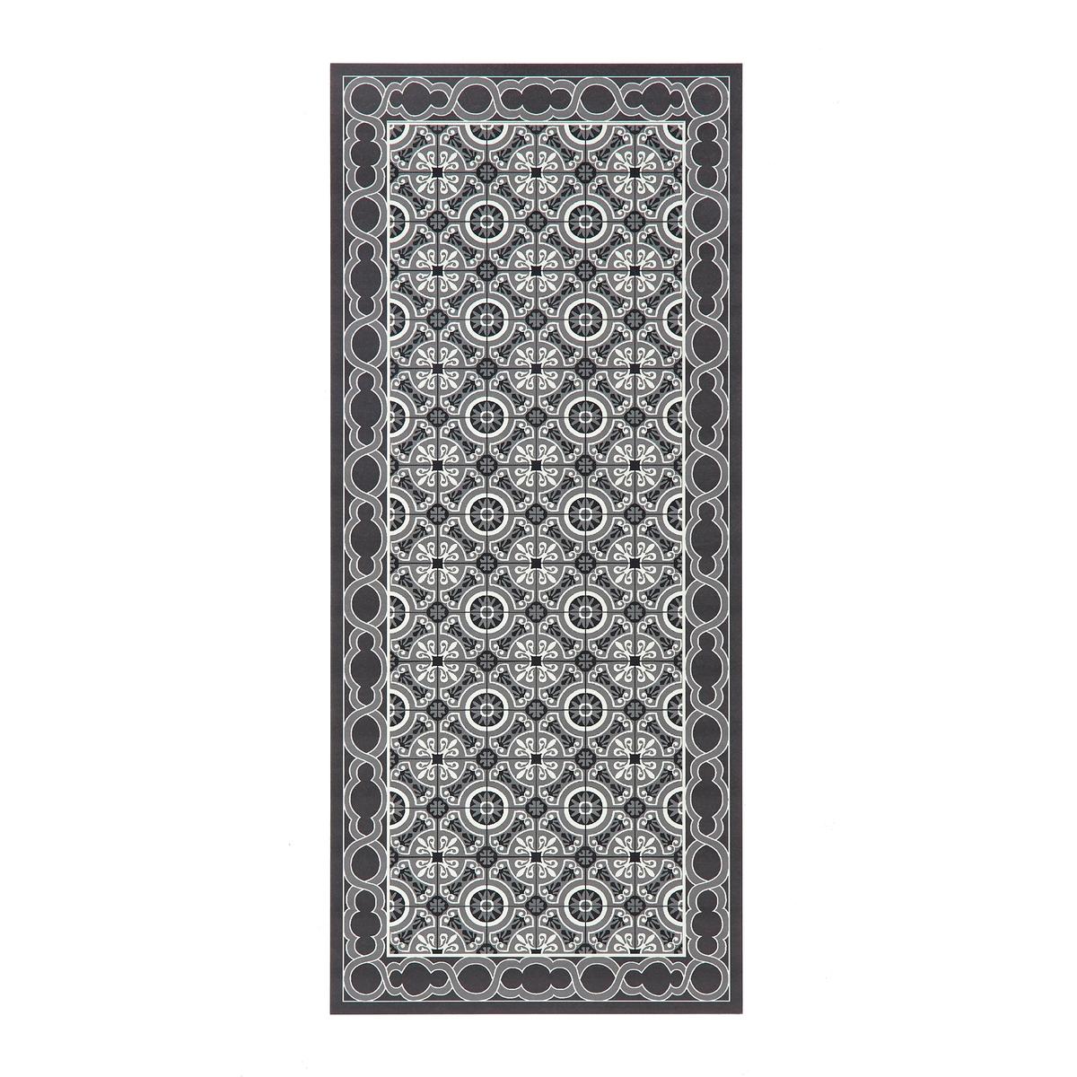 Ковер LaRedoute Виниловый с рисунком цементная плитка Simen 065 x 150 см серый