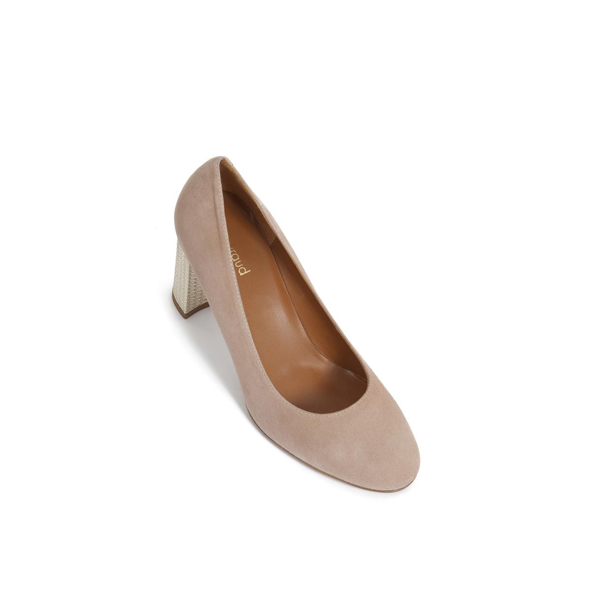 Туфли кожаные велюровые EloanaВерх : велюровая кожа   Подкладка : Кожа.   Стелька : Кожа.   Подошва : Кожа.   Высота каблука : 8 см   Форма каблука : квадратный.   Мысок : закругленный   Застежка : без застежки<br><br>Цвет: красный малиновый,пудра<br>Размер: 40.37.41
