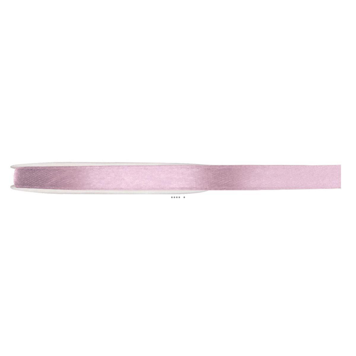 Ruban Tout Satin Rose 6 mm bobine de 25 m - choisissez votre couleur: ROSE