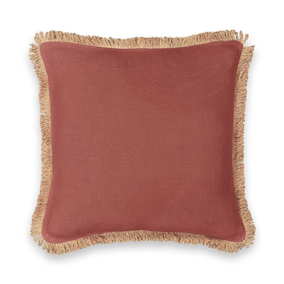 Чехол LaRedoute На подушку из джута Jutty 50 x 30 см красный