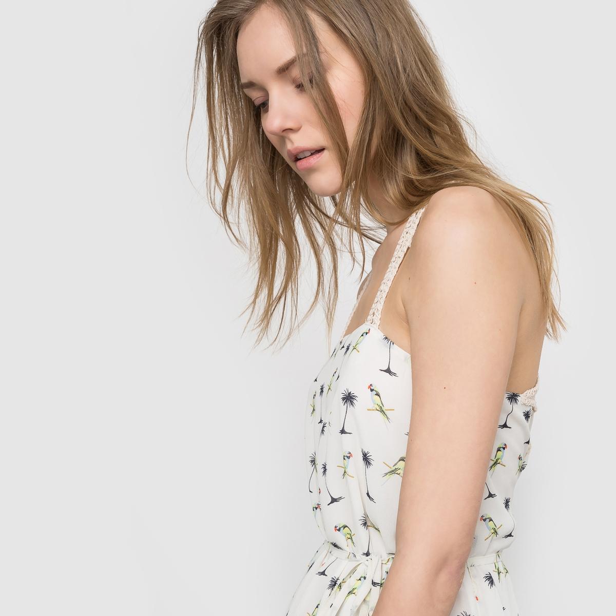 где купить Платье из струящейся ткани с открытыми плечами по лучшей цене
