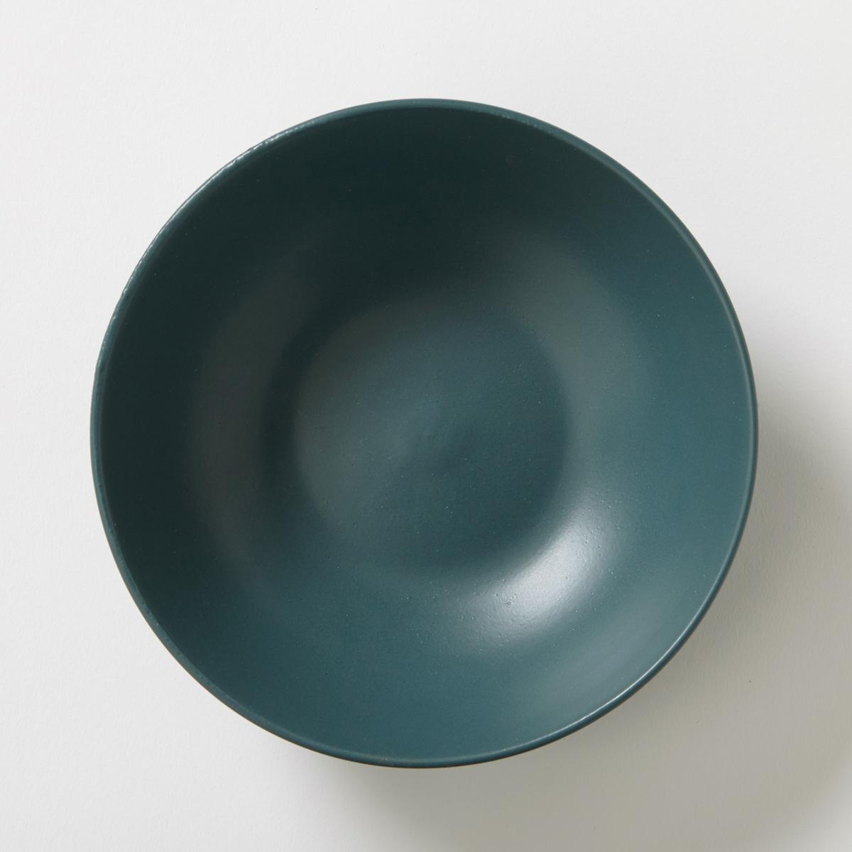 Комплект из 4 глубоких тарелок из фаянса с матовой отделкой, MELYA ваза из фаянса catalpa