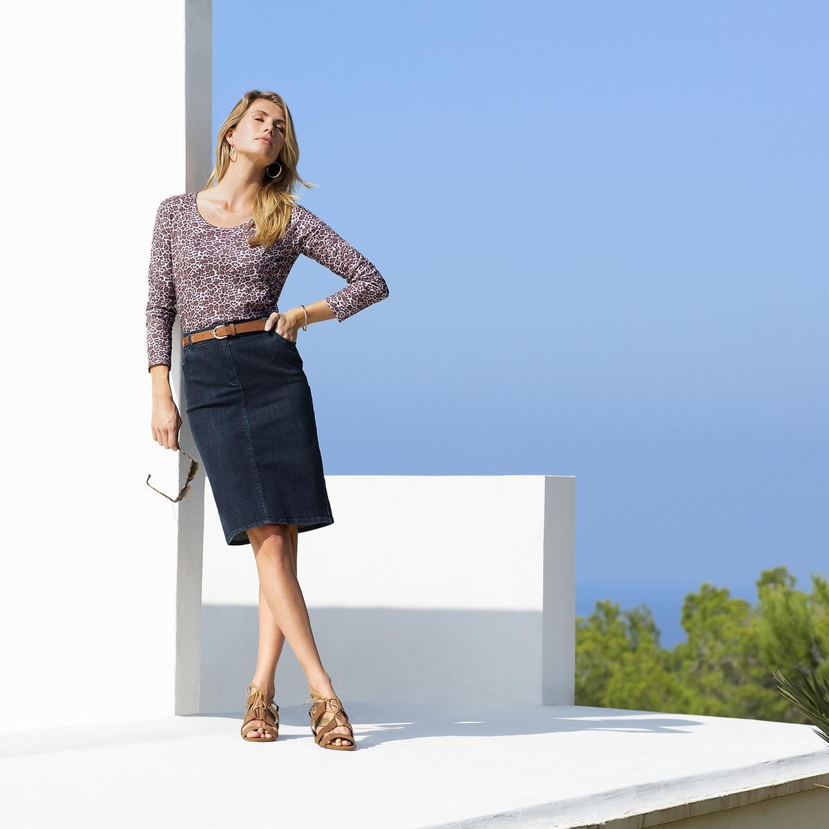 Imagen principal de producto de Falda recta de denim stretch - Anne weyburn