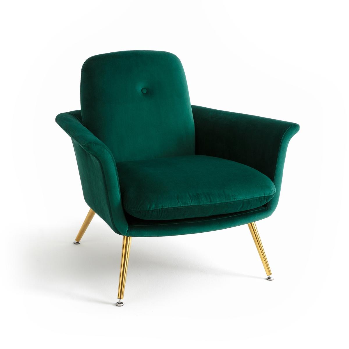 Кресло велюровое в винтажном стиле ELORI бра настенное из металла elori