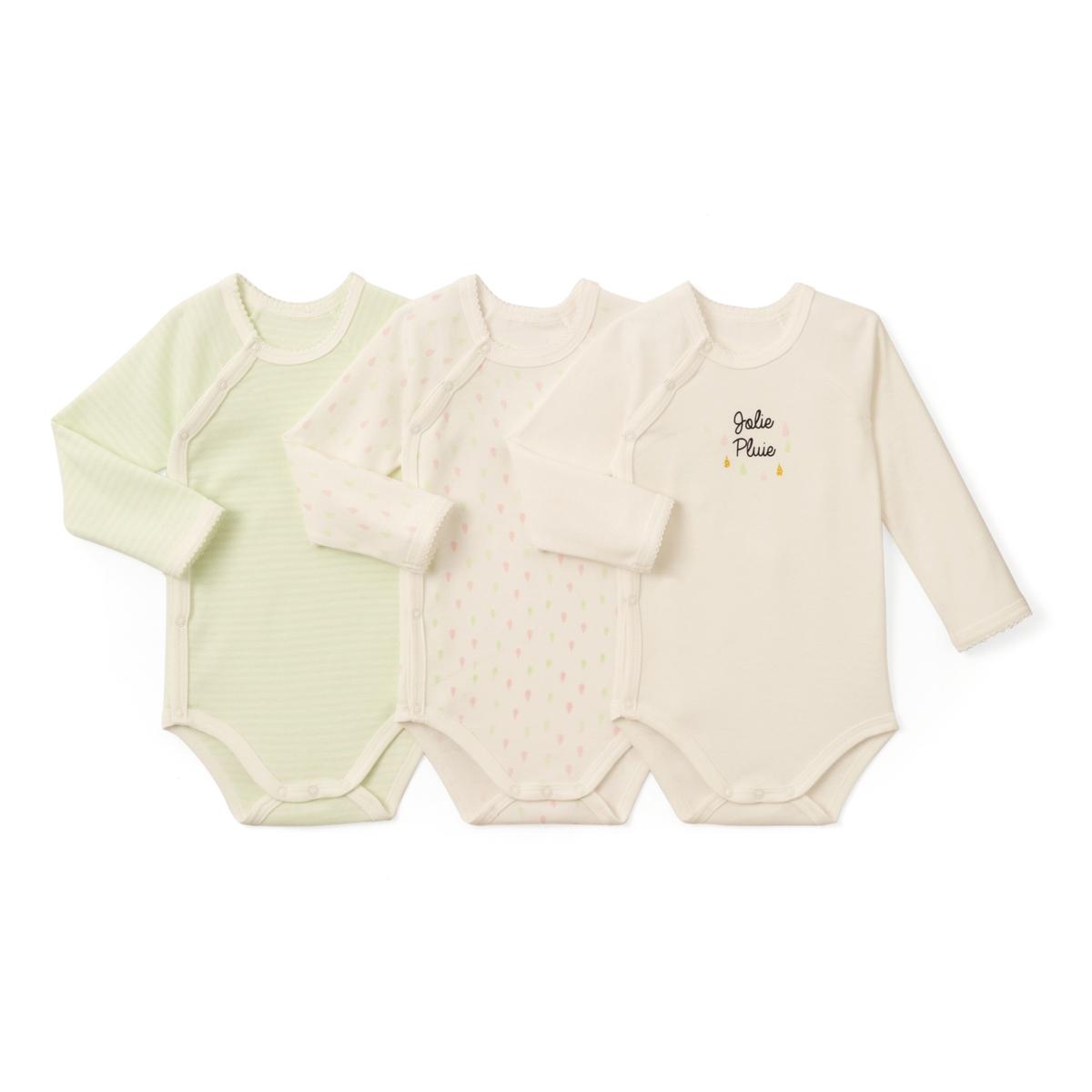 Комплект из 3 хлопковых боди для новорожденных 0 мес- 3 лет
